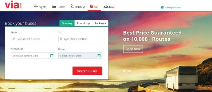 Via.com:印度B2B旅游网站7500万美元被收购