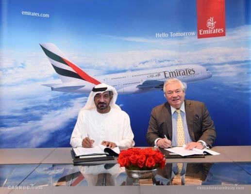 阿联酋航空:宣布增购36架空客A380客机