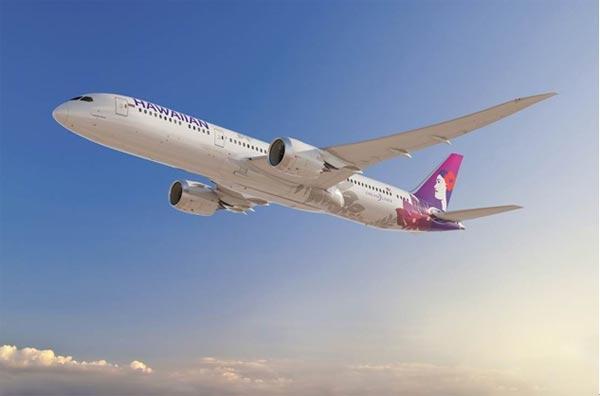 夏威夷航空:购10架波音787-9 首架2021年交付