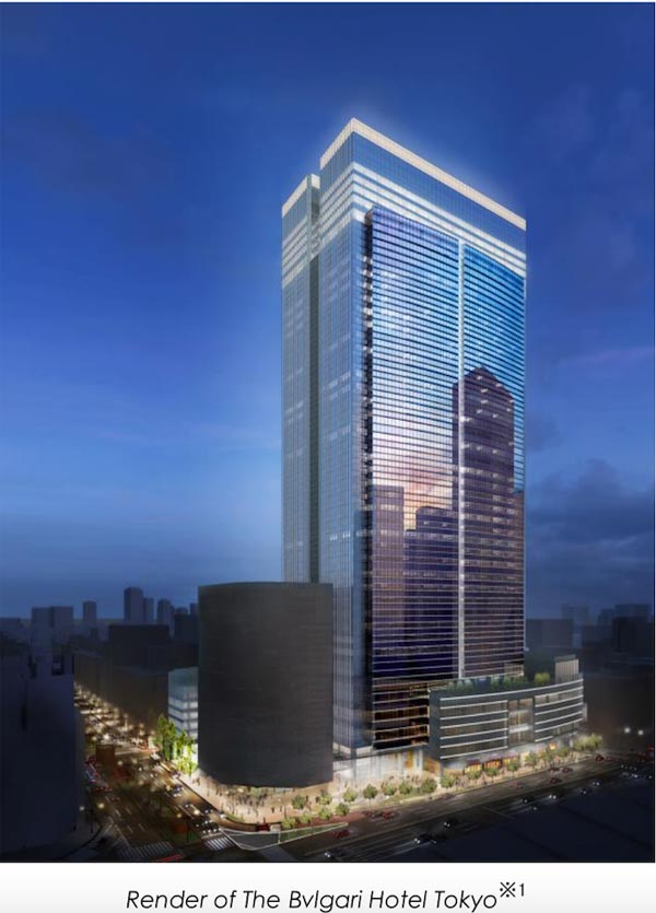 宝格丽酒店:全球第九家落户东京 2022年开业
