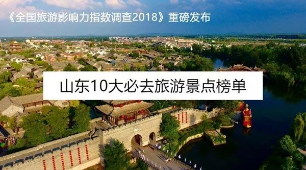 中国旅游影响力指数:山东最具影响力十大景区