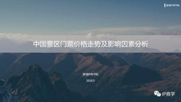 报告:中国景区门票价格走势及影响因素分析