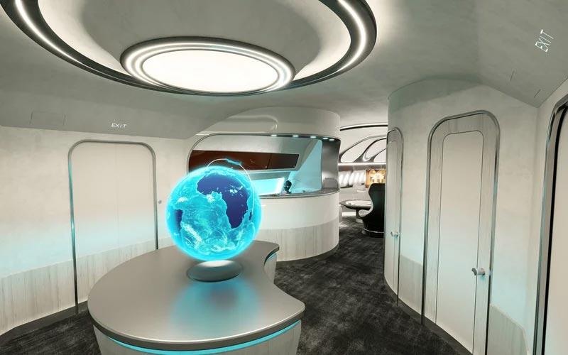 空中客车:展示新型公务机设计 如同宇宙飞船