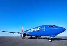 西南航空:将售后回租20架飞机 融资8.15亿美元