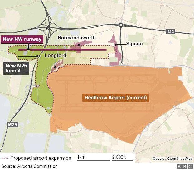 英国希思罗机场:将斥资140亿英镑建第三跑道