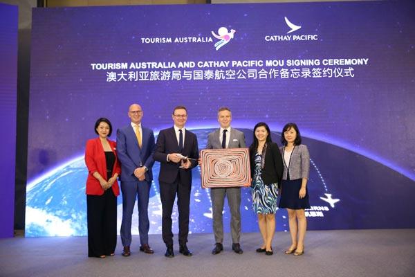 澳大利亚旅游局:与国泰航空签署合作备忘录