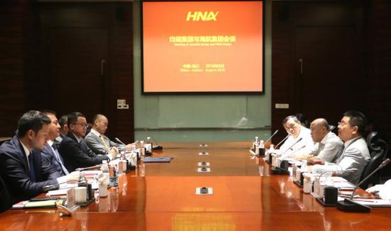 海航集团与均瑶集团会谈:开展全方位战略合作