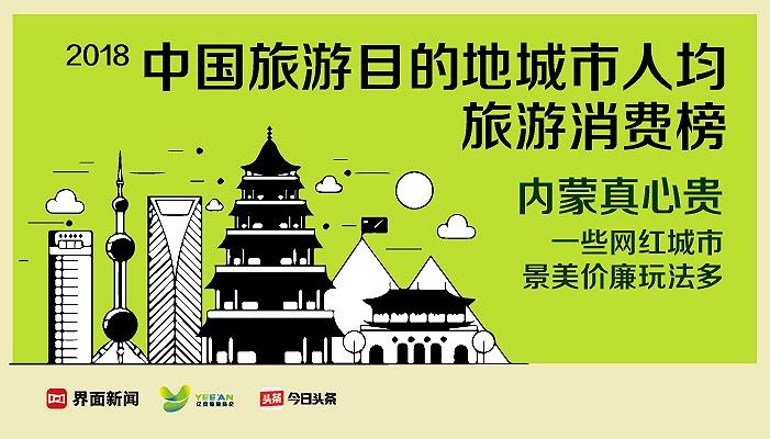 报告:2018中国旅游目的地城市人均旅游消费榜