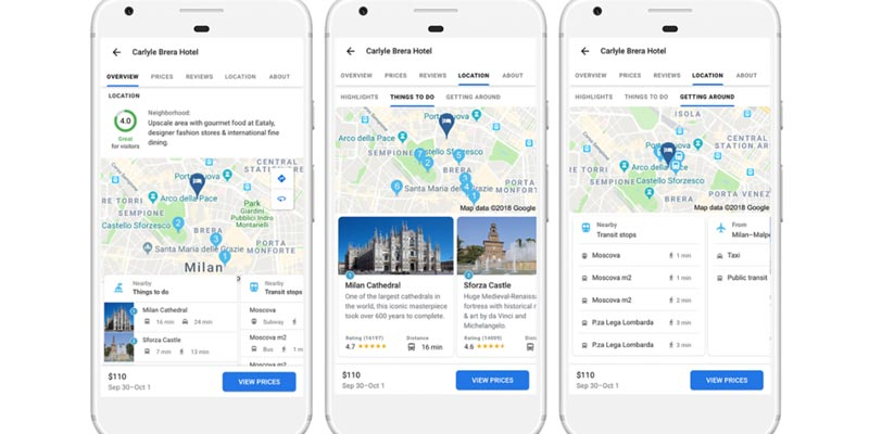 谷歌:增加新功能以简化和加速旅行计划过程