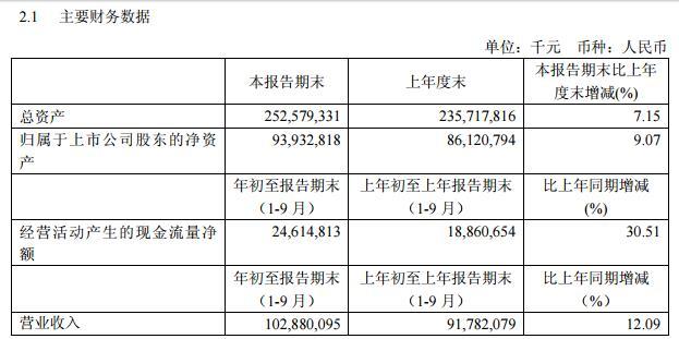 国航:前三季度营收1028.80亿元 增长12.09%