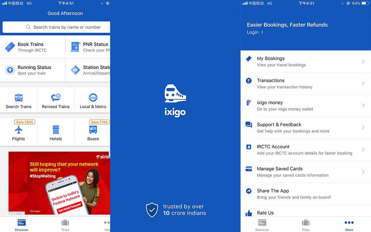印度ixigo:要用旅行内容和火车票预订服务取胜
