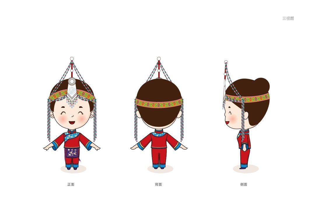 畲族小姑娘简笔画