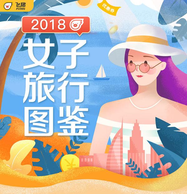 飛豬:2018女子旅行圖鑒 超6成旅行由女性主導