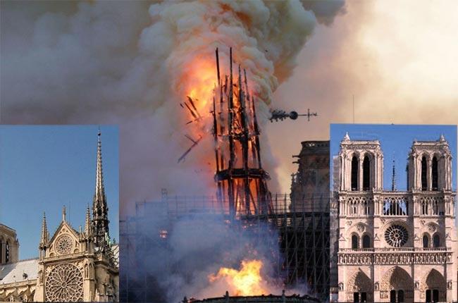巴黎圣母院大火受损严重 马克龙表示将重建