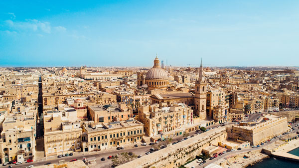 Aerial-view-of-Valletta