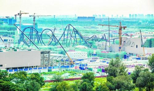 北京环球度假区:游乐设施开始安装 酒店将封顶