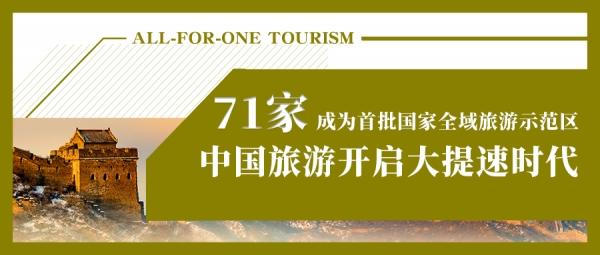 收藏版:71家首批国家全域旅游示范区特点解读