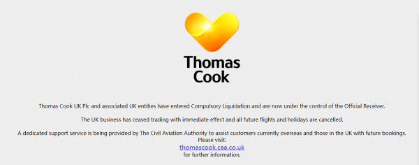 Thomas Cook:世界首家旅行社申请破产