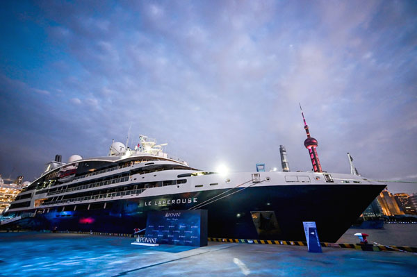 龐洛郵輪進軍中國:拉普洛斯號上海首航