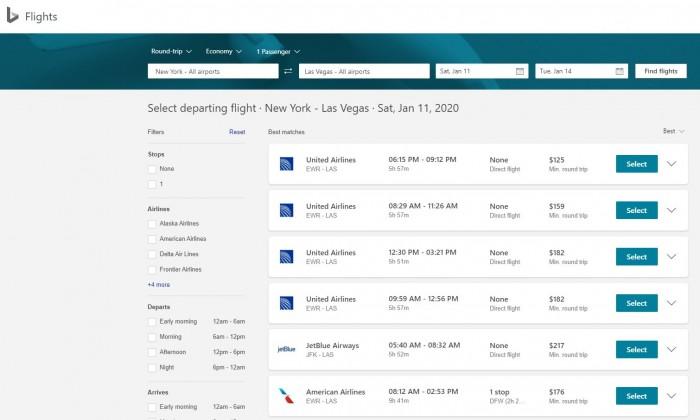 微软:在Bing推出新航班预订体验 更快捷方便