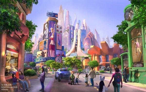 """上海迪士尼:全新擴建項目""""瘋狂動物城""""開始施工"""