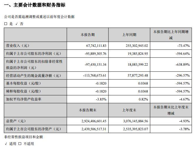 峨眉山A:一季度营收6774.21万 亏损9588.93万