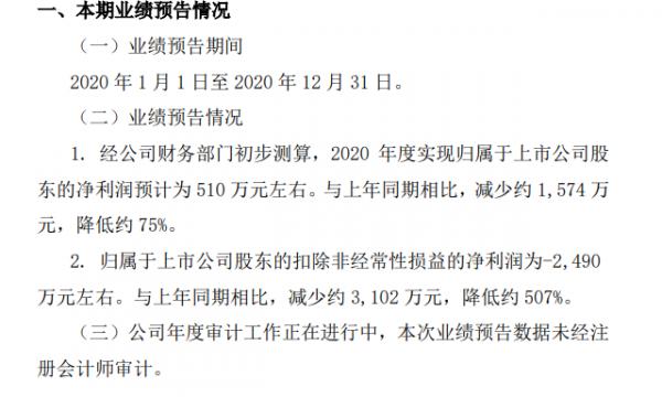 西藏旅游:预计2020年净利润约510万 同比降75%
