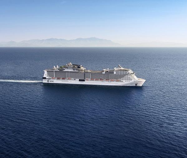MSC地中海华彩号:将在英国开启2021年夏季航线