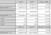 岭南控股:2020年营收18.78亿 净亏损2.4亿元