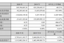 张家界旅游:2020年营收1.69亿 净亏损超9000万